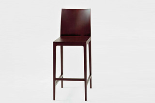 Anna barstool with backrest  by  Crassevig