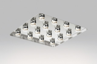 Due Quadra recessed luminaire  by  Danese