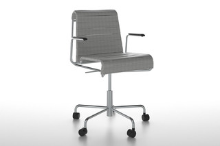 Farallon office chair rollable with armrests  by  Danese