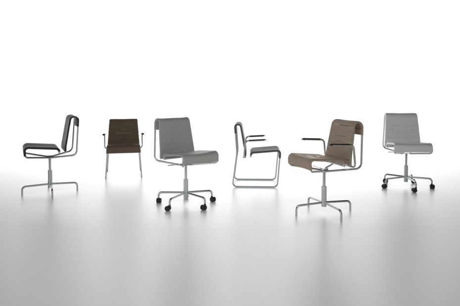 Farallon office chair with armrests