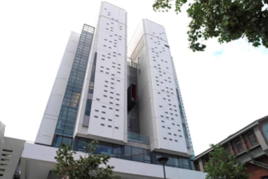 Polierte Betonfassade, Architekturfakultät Paris-Val de Seine