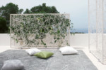GREEN wall horizontal incl. ceramic pots