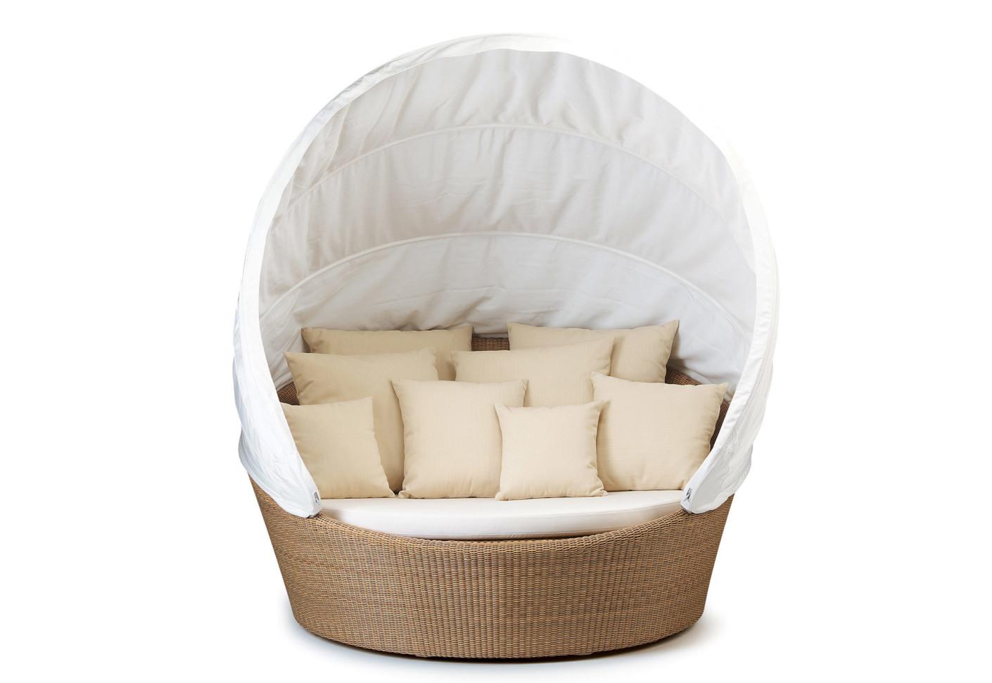 orbit loveseat incl canopy by dedon stylepark. Black Bedroom Furniture Sets. Home Design Ideas