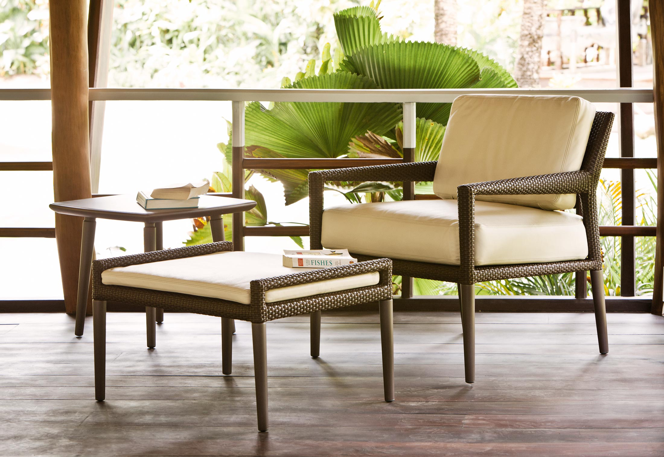 TRIBECA footstool by DEDON