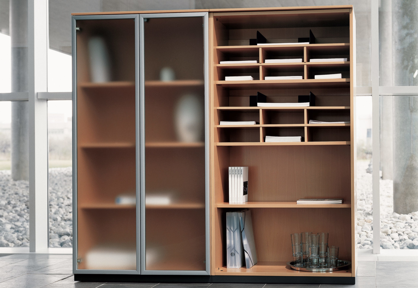 Office contract furniture storage shelving shelf systems - K2 Storage By Bene Stylepark