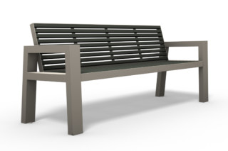 COMFONY 10 bench with armrests  by  Benkert Bänke
