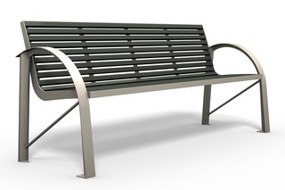 COMFONY 120 bench 120 with armrests  by  Benkert Bänke