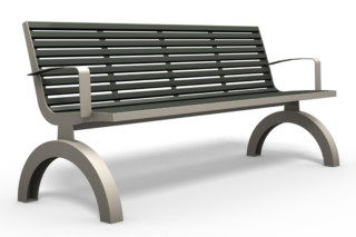 COMFONY 140 bench with armrests  by  Benkert Bänke