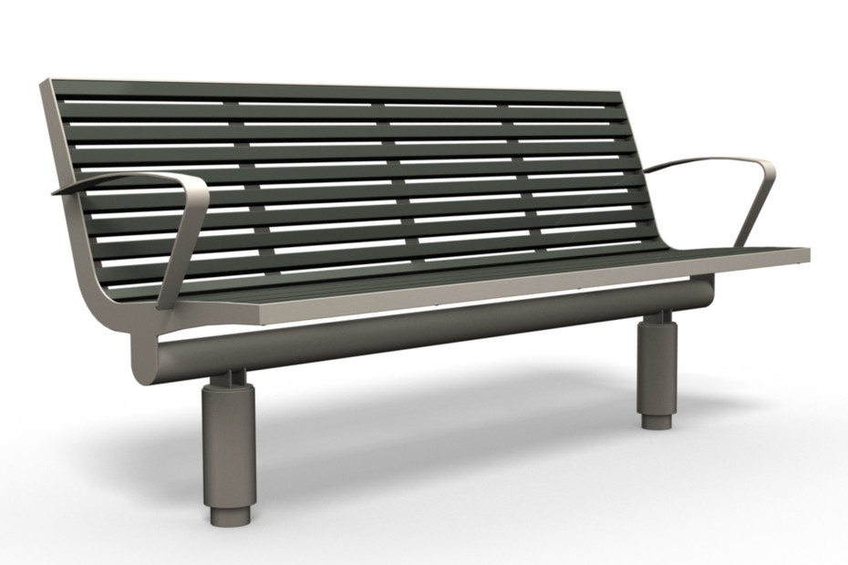COMFONY 400 bench with armrests