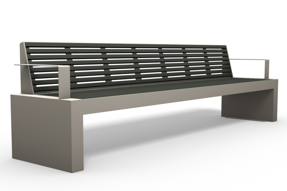 COMFONY bench wirh armrests