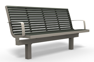 COMFONY L60 bench with armrests  by  Benkert Bänke