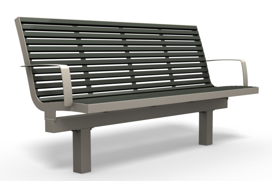 COMFONY L60 bench with armrests