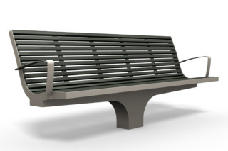 COMFONY S20 bench with armrests  by  Benkert Bänke