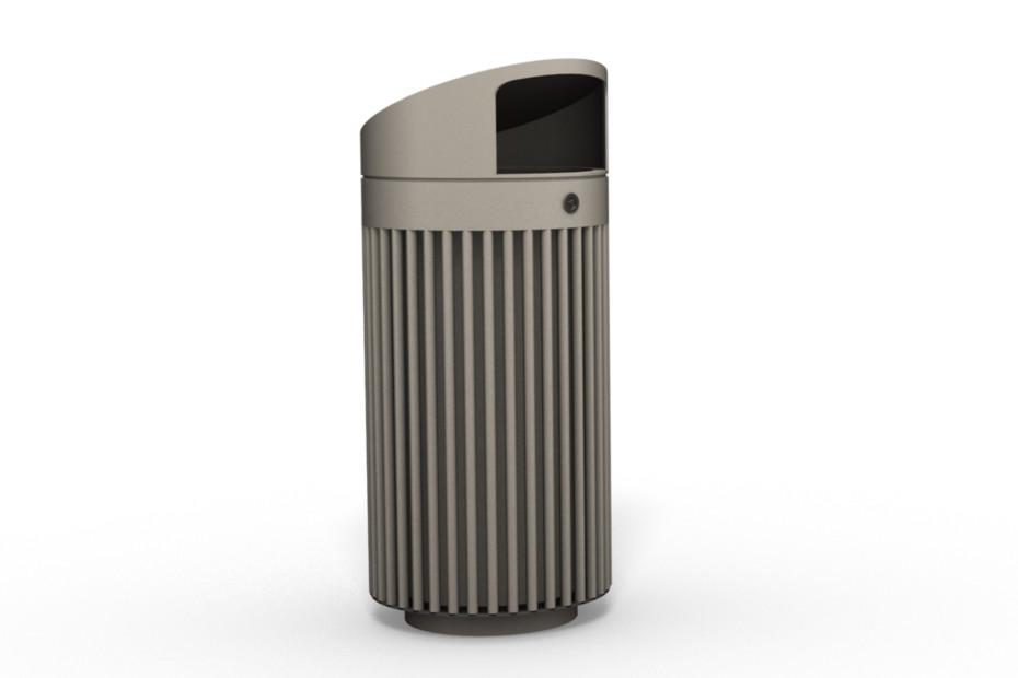 Abfallbehälter 110 mit Überdachung