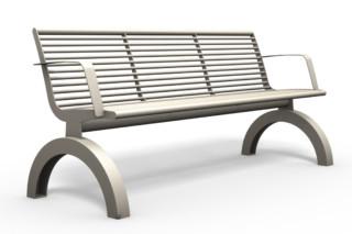 SIARDO 140R bench with armrests  by  Benkert Bänke