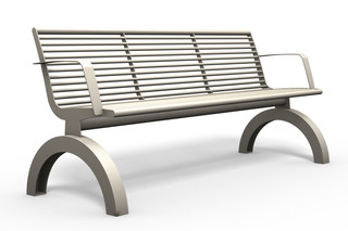 SIARDO 140R bench with armrests  by  Benkert Bänke