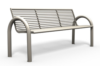 SIARDO 150R bench with armrests  by  Benkert Bänke
