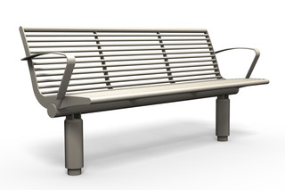 SIARDO 400R bench with armrests  by  Benkert Bänke