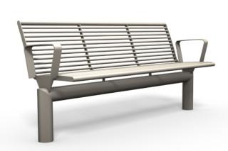 SIARDO L40 R bench with armrests  by  Benkert Bänke