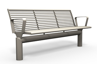 SIARDO L40 R bench with armrests  by  Benkert Bänke