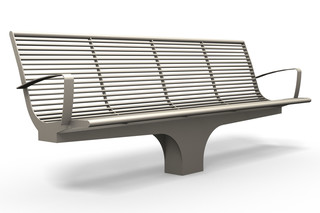 SIARDO S20 R bench with armrests  by  Benkert Bänke