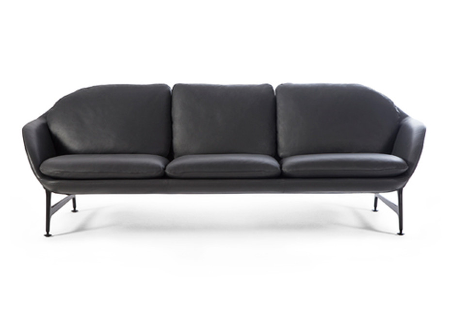 Vico 3-seater leather