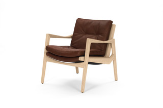 Euvira Lounge Chair Leder  von  ClassiCon