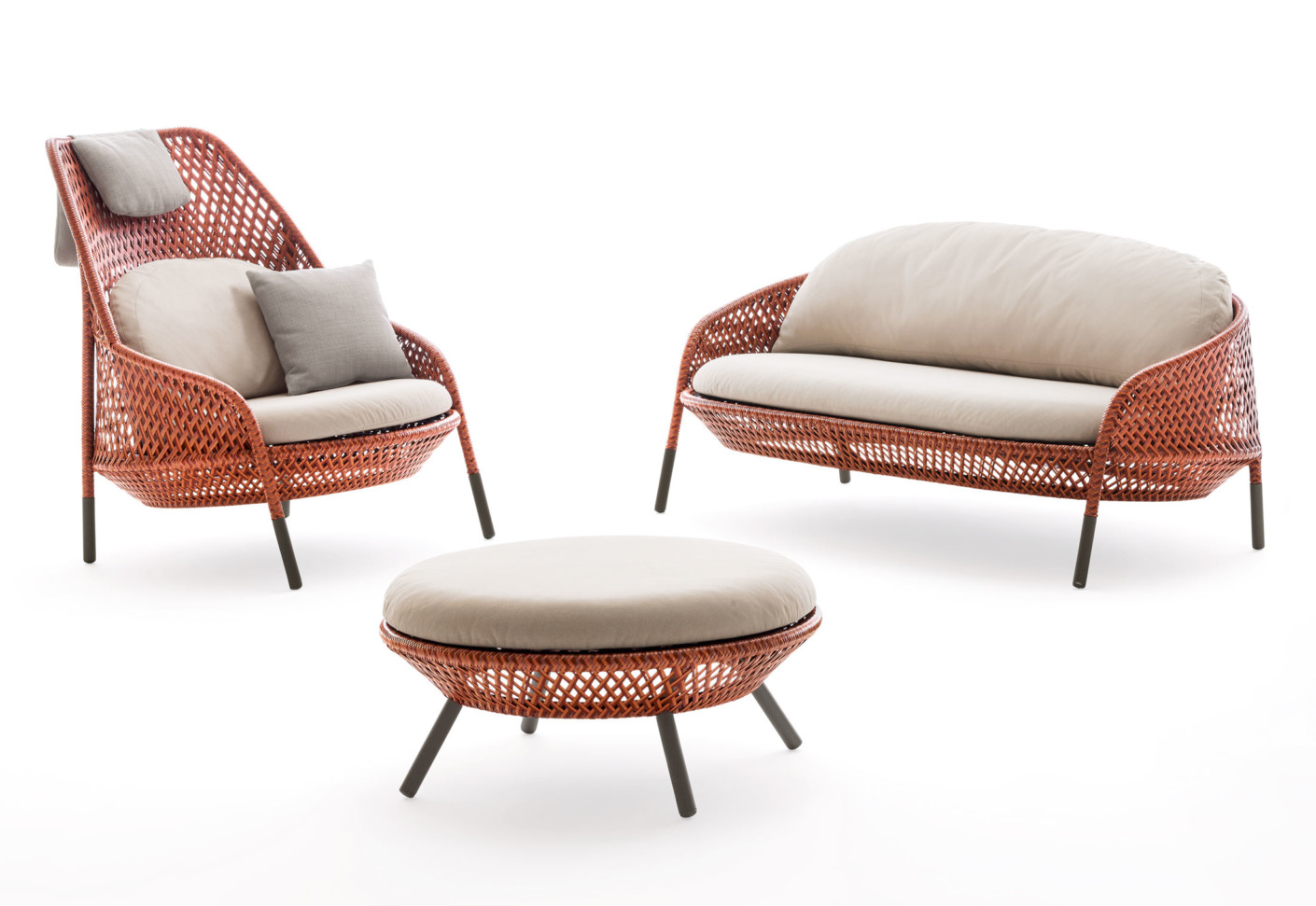 Ahnda footstool by dedon stylepark for Dedon outdoor furniture