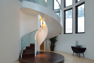 Helical staircase with LEDs  by  EeStairs