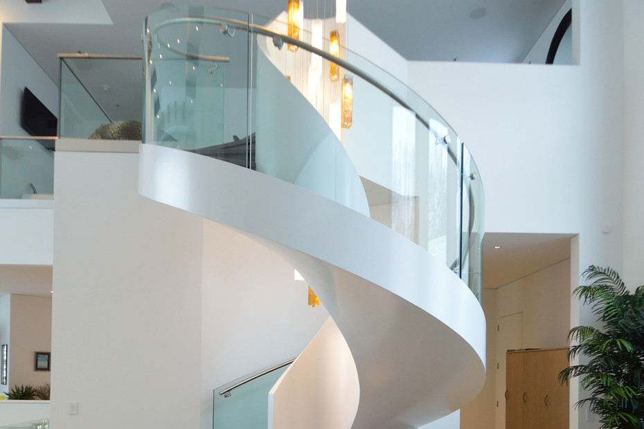 Helical staircase mit LEDs