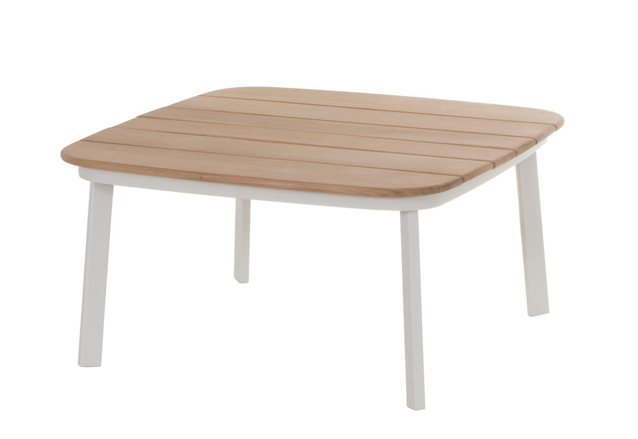 Shine table with teak top