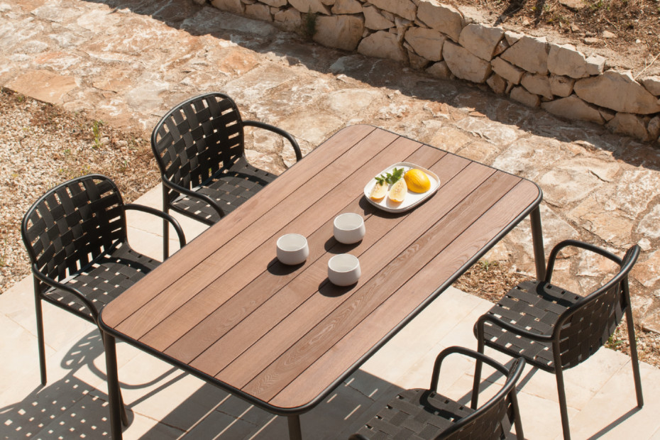 Yard wooden top table