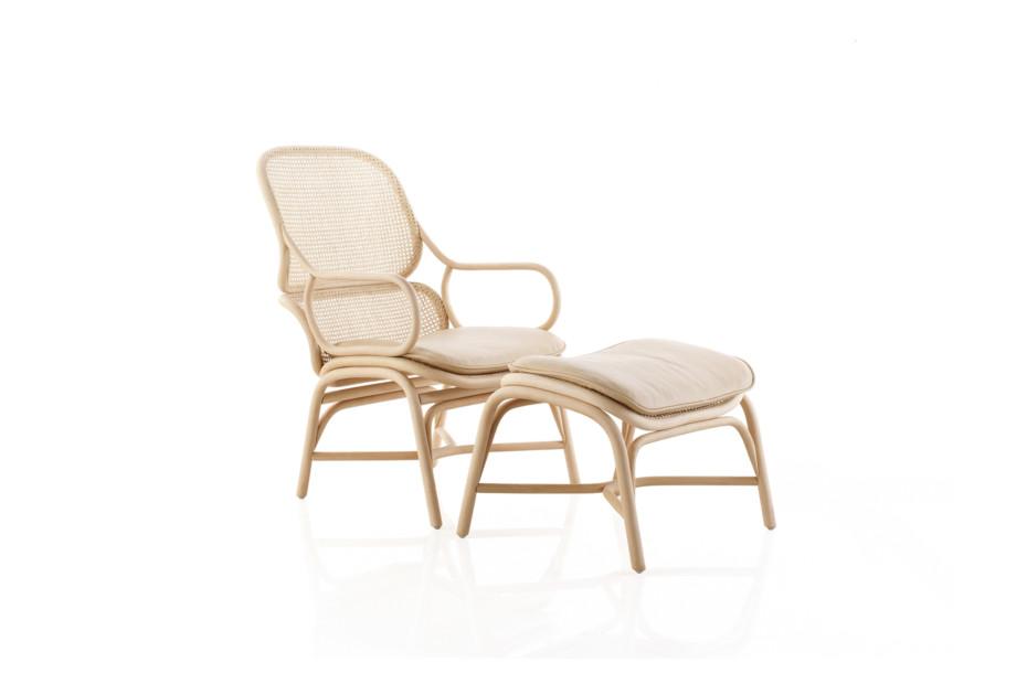 Frames armchair with rattan legs T050 R