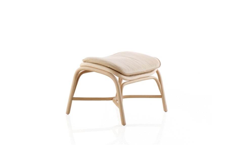 Frames footstool with rattan legs T056 R
