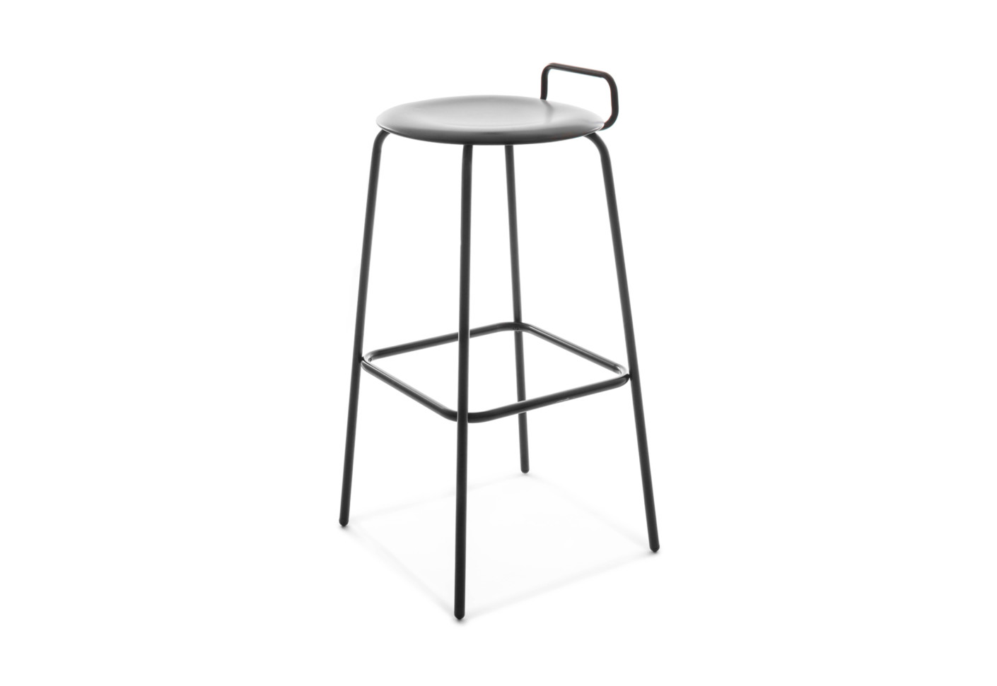 Pro Stool Four Legged Frame High With Backrest By Fl 246 Totto