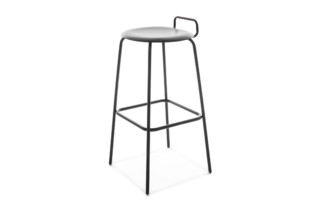 PRO STOOL four-legged frame high with backrest  by  Flötotto