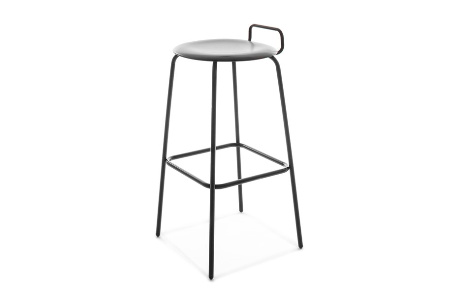 PRO STOOL four-legged frame high with backrest