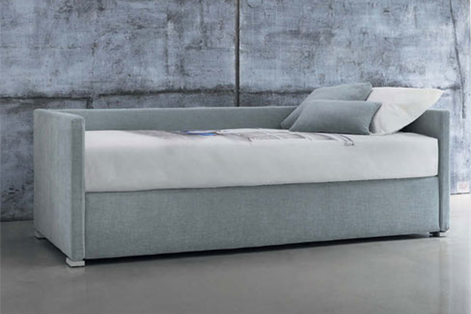 Biss E double bed with backrest