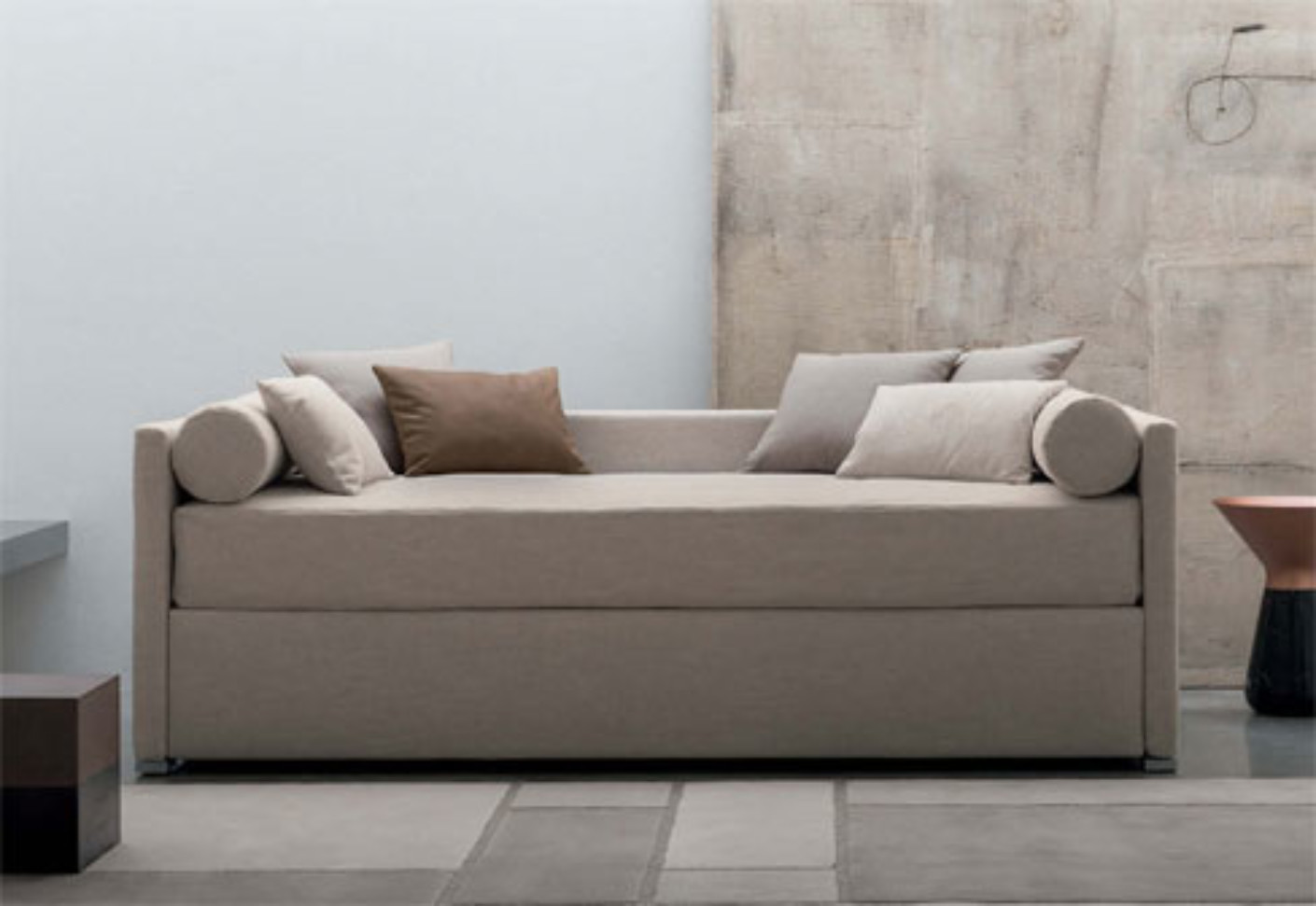 Letti flou a verona : Biss e with backrest by flou stylepark