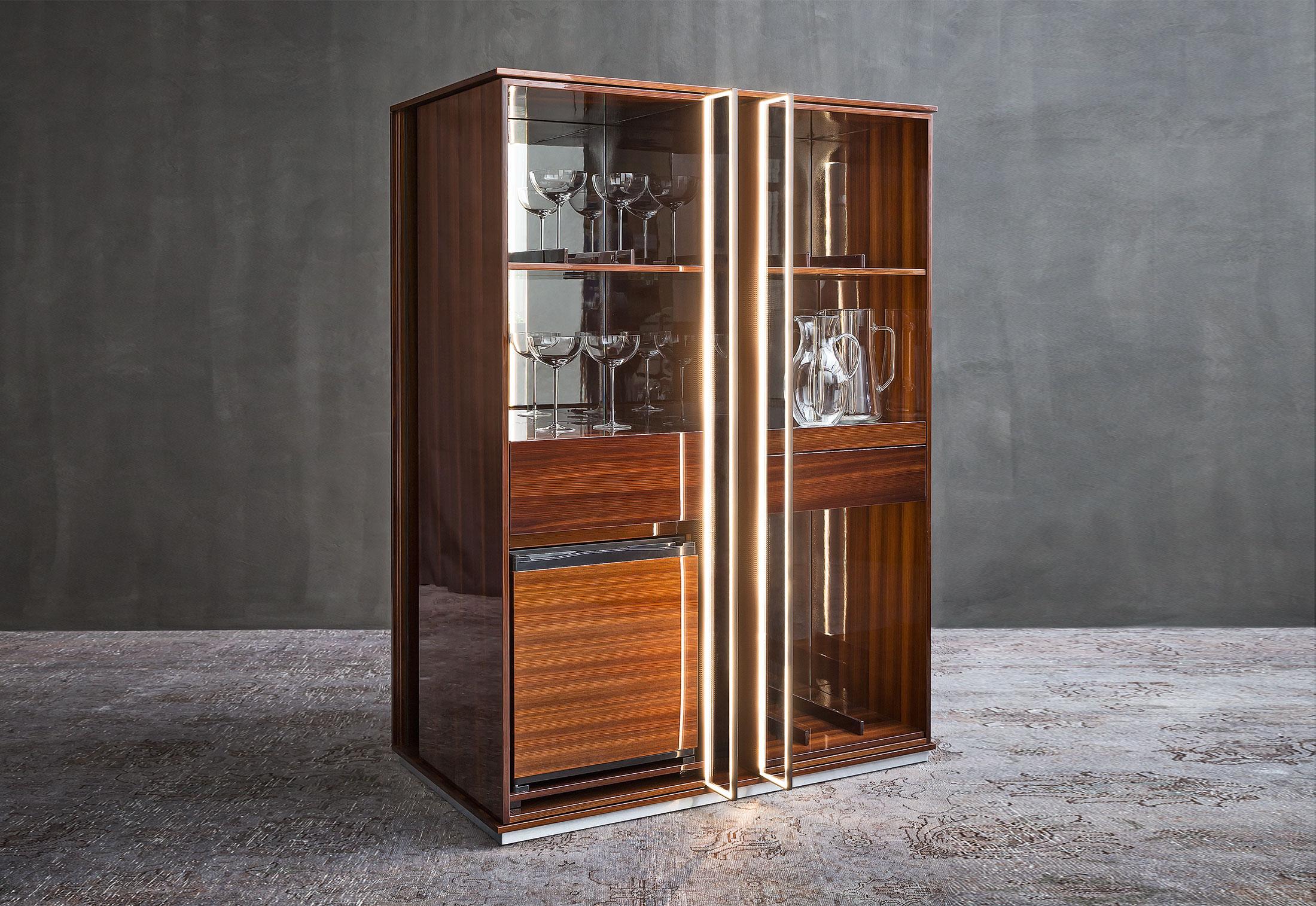 torri mini bar by flou stylepark. Black Bedroom Furniture Sets. Home Design Ideas