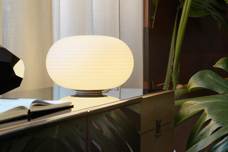 Bianca table lamp   by  FontanaArte
