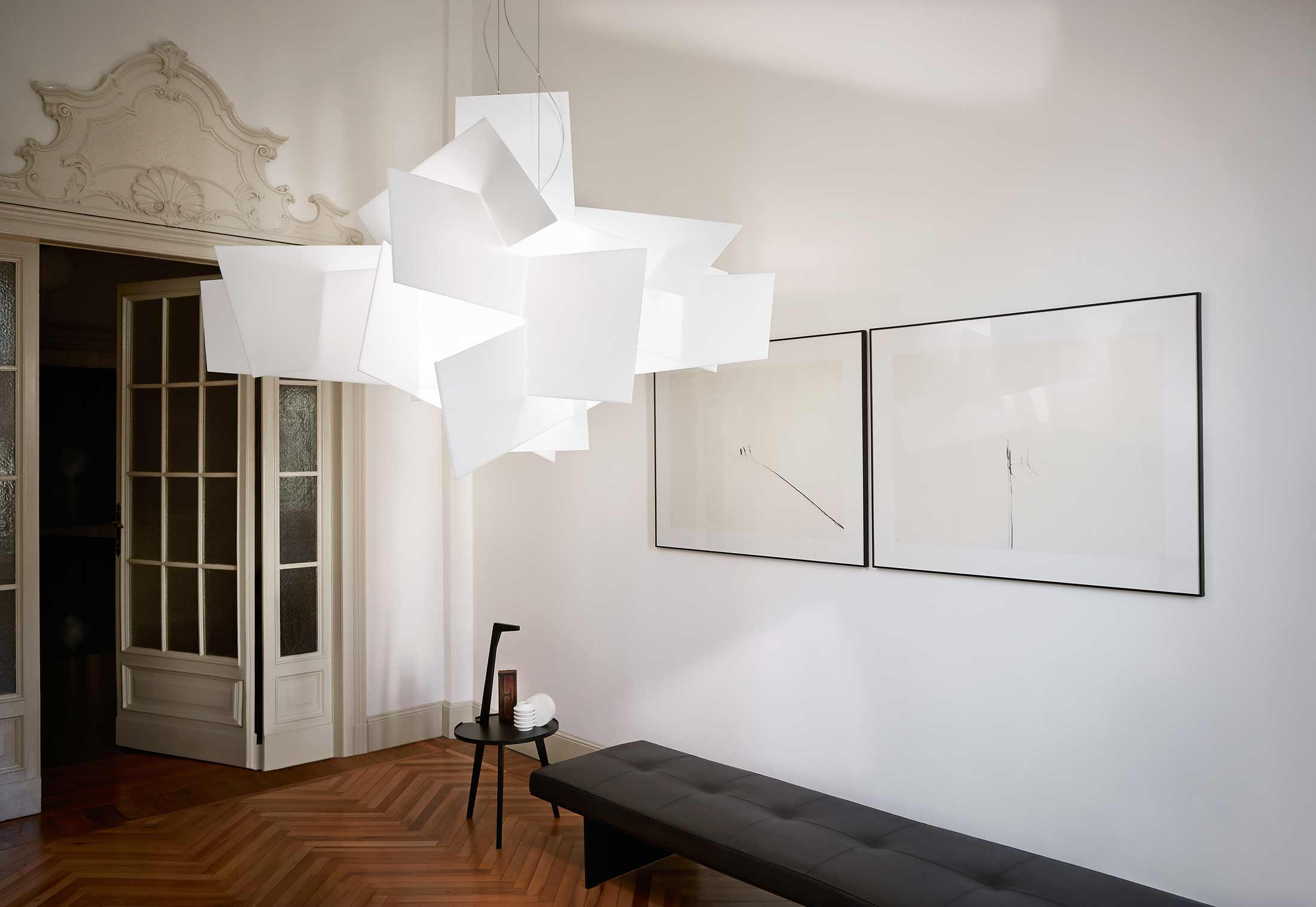big bang l suspension lamp by foscarini stylepark. Black Bedroom Furniture Sets. Home Design Ideas