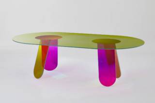 Shimmer dining table oval  by  GLAS ITALIA