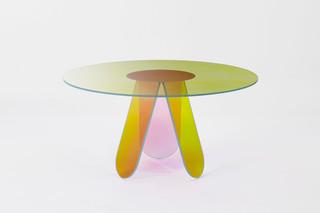 Shimmer Esstisch rund  von  GLAS ITALIA