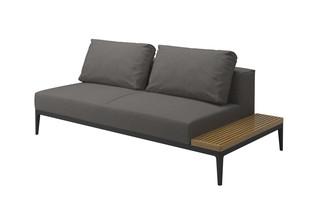 Grid Linke/Rechte Tischendeinheit  von  Gloster Furniture