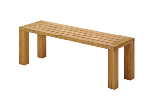 Square Backless Bench 131  by  Gloster Furniture