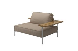 Tray Linke End- / Eckeinheit  von  Gloster Furniture