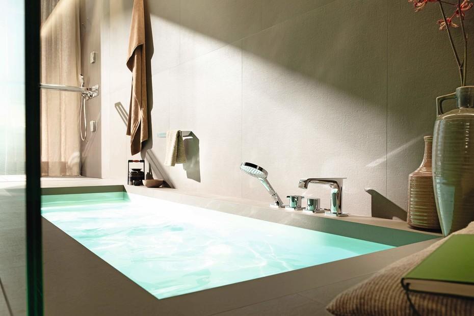 Axor Citterio E 4-hole rim/tile-mounted bath mixer