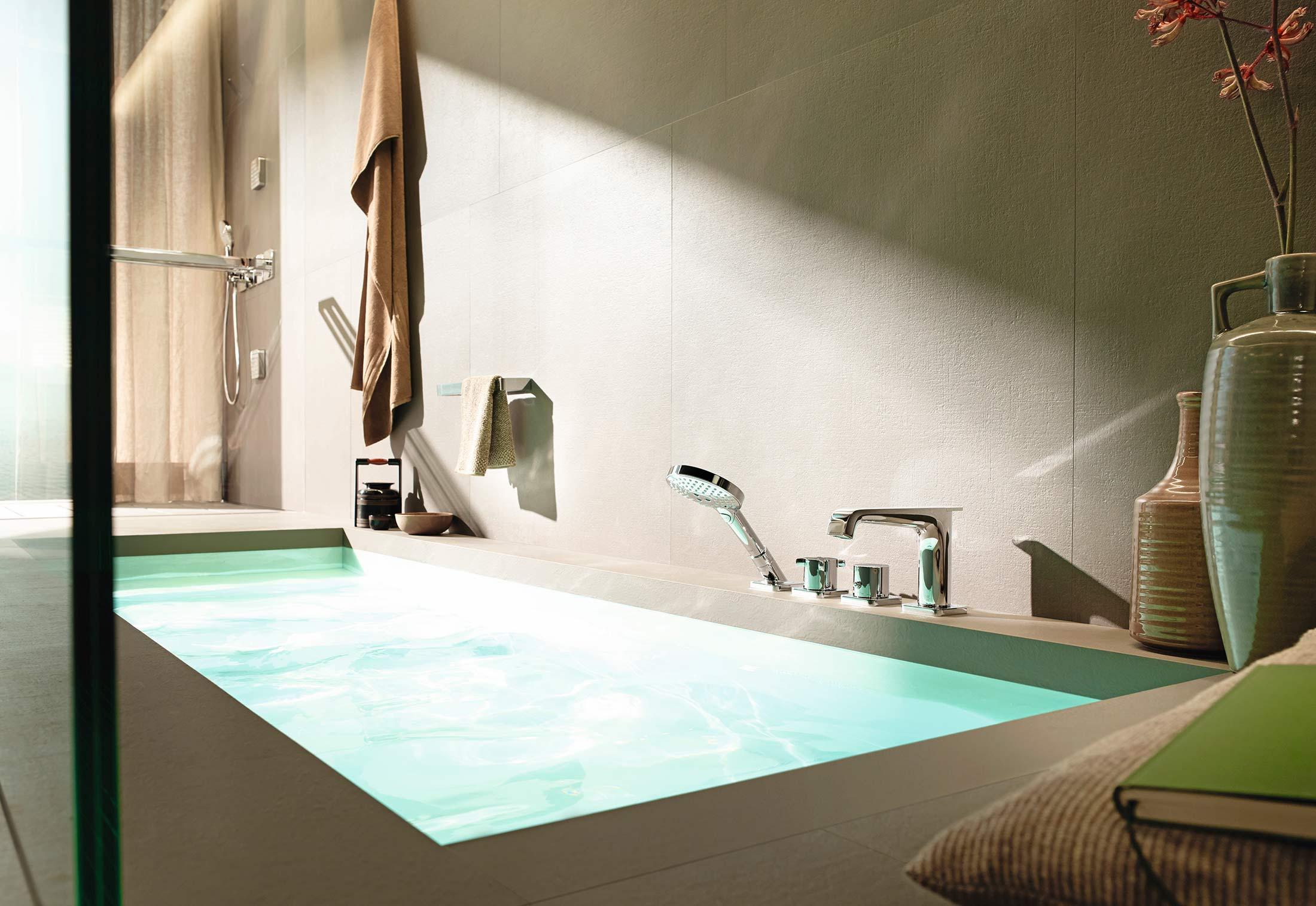 Axor Citterio E 4-hole Rim/tile-mounted Bath Mixer By Axor