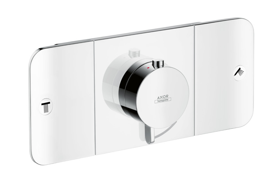 Axor One Thermostatic module for concealed installation, for 2 outlets